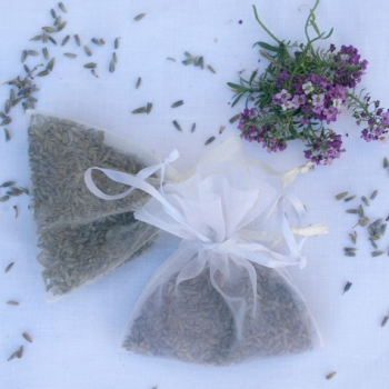 Moth Repellent Sachets with lavender placed next to them - Lavender - Altar Linens by Lynn Smith